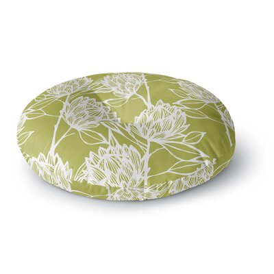 Gill Eggleston Protea Jade Flowers Round Floor Pillow Size: 26 x 26, Color: Green