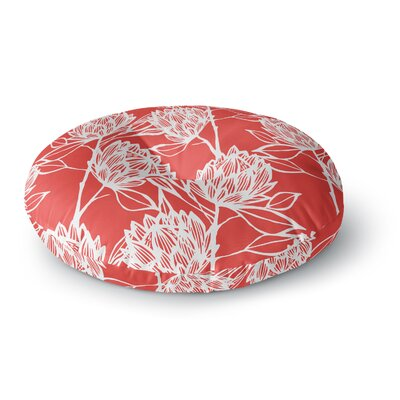 Gill Eggleston Protea Jade Flowers Round Floor Pillow Size: 23 x 23, Color: Red