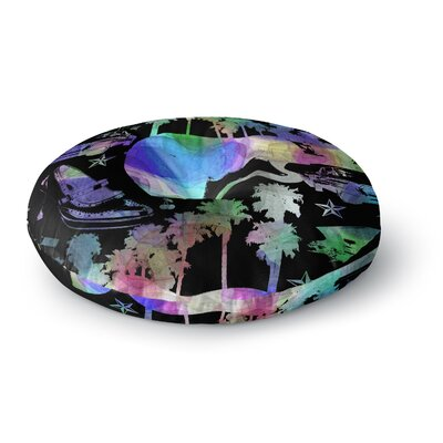 Gabriela Fuente California Dream Rainbow Abstract Round Floor Pillow Size: 26 x 26