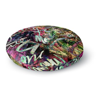Gabriela Fuente Crazy Day Rainbow Abstract Round Floor Pillow Size: 23 x 23