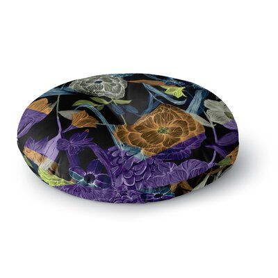 Gabriela Fuente Wonder Dark Flower Round Floor Pillow Size: 26 x 26