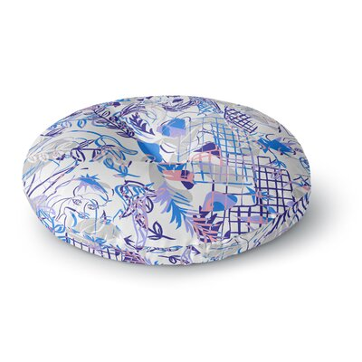 Gabriela Fuente She Round Floor Pillow Size: 26 x 26
