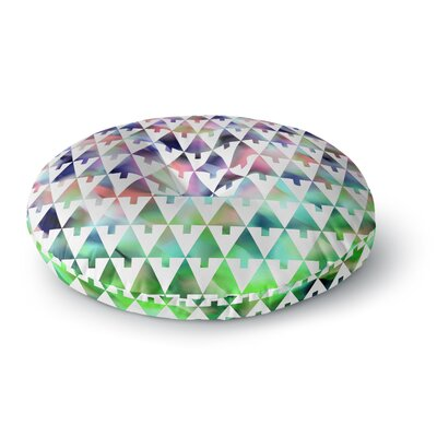 Gabriela Fuente Happy X-Mas Geometric Monotone Round Floor Pillow Size: 23 x 23, Color: Pastel