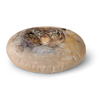 Geordanna Cordero-Fields My Tiger Round Floor Pillow Size: 23 x 23
