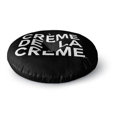 Geordanna Cordero-Fields Creme De La Creme Round Floor Pillow Size: 23 x 23
