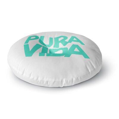 Geordanna Cordero-Fields Pura Vida Round Floor Pillow Size: 26 x 26