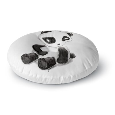 Geordanna Cordero-Fields My Panda Sketch Round Floor Pillow Size: 26 x 26