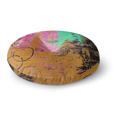 Geordanna Fields Kala II Abstract Round Floor Pillow Size: 23 x 23