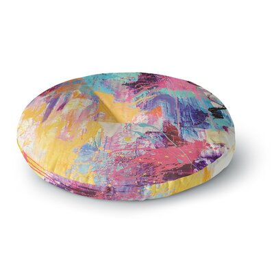 Geordanna Fields the Life After Abstract Round Floor Pillow Size: 26 x 26