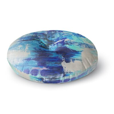 Geordanna Fields Walked on Water Abstract Round Floor Pillow Size: 26 x 26