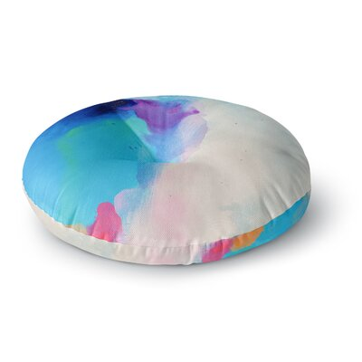 Geordanna Fields Happiness is Like A Butterfly Abstract Round Floor Pillow Size: 26 x 26