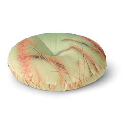 Graphic Tabby Dancing in Spring Round Floor Pillow Size: 26 x 26