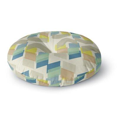 Gukuuki Kobob Chevron Geometric Round Floor Pillow Size: 23 x 23