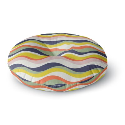 Gukuuki Rainbow Stripes Round Floor Pillow Size: 26 x 26