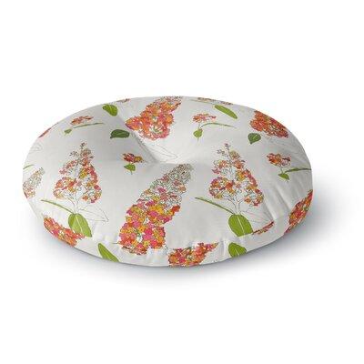 Gukuuki Barika Belva Floral Round Floor Pillow Size: 23 x 23