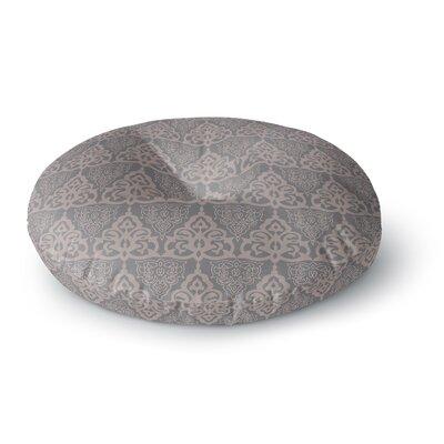 Gukuuki Jaffa Mosaic Maroon Round Floor Pillow Size: 26 x 26