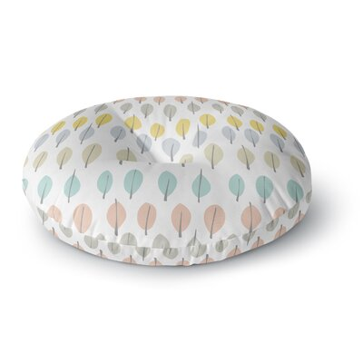 Gukuuki Simple Leaves Round Floor Pillow Size: 23 x 23