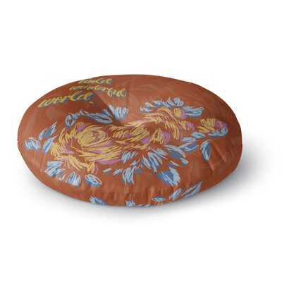 Gukuuki Wonderful World Typograpgy Round Floor Pillow Size: 26 x 26