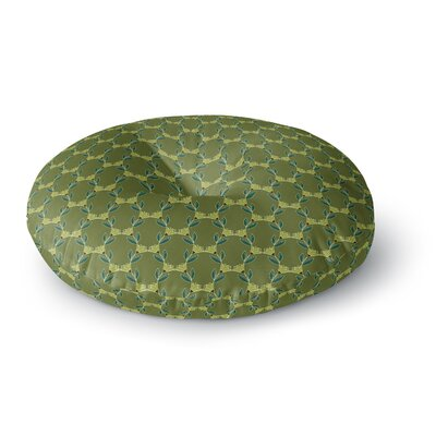 Holly Helgeson Flora Vine Olive Round Floor Pillow Size: 23 x 23