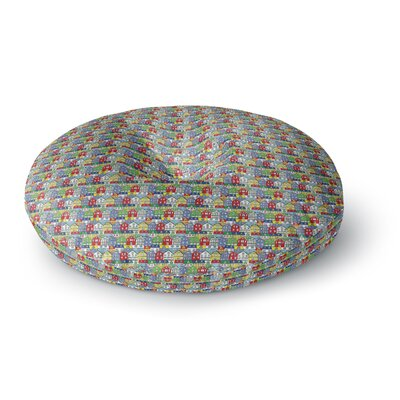 Holly Helgeson Reykjavik Rainbow Pattern Round Floor Pillow Size: 26 x 26