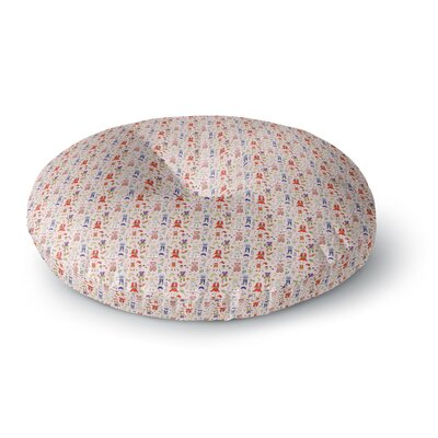 Holly Helgeson Miss Ruby Pattern Round Floor Pillow Size: 23 x 23