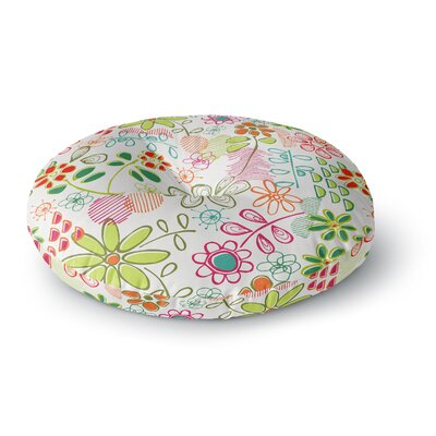 Holly Helgeson Wildflower Round Floor Pillow Size: 23 x 23