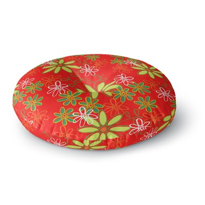 Holly Helgeson Daisy Mae Floral Round Floor Pillow Size: 26 x 26