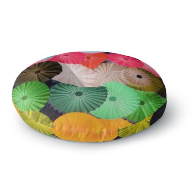 Heidi Jennings Parasol Paper Circle Round Floor Pillow Size: 26 x 26