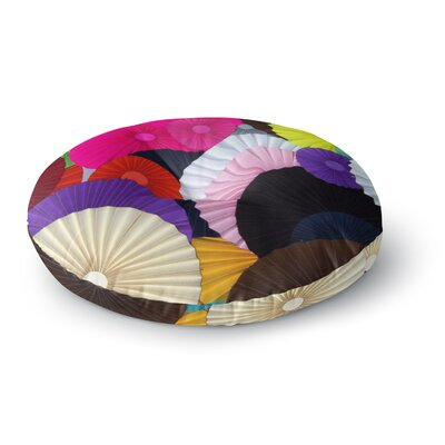 Heidi Jennings Madness Rainbow Circle Round Floor Pillow Size: 26 x 26