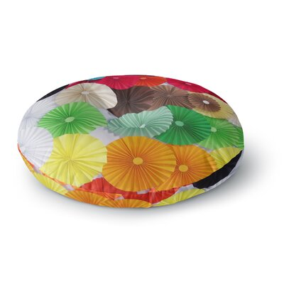 Heidi Jennings Adored Circles Round Floor Pillow Size: 23 x 23