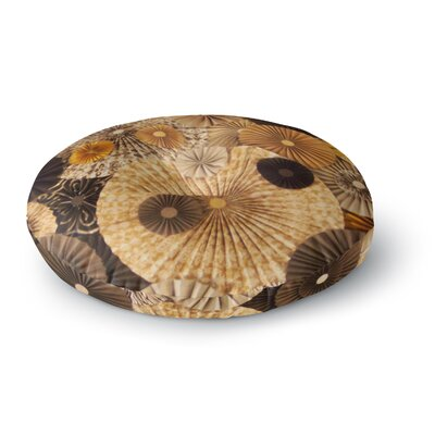 Heidi Jennings Grounded Paper Round Floor Pillow Size: 26 x 26, Color: Brown
