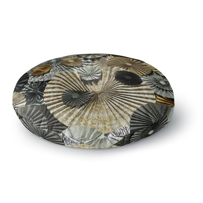Heidi Jennings Grounded Paper Round Floor Pillow Size: 26 x 26, Color: Gray
