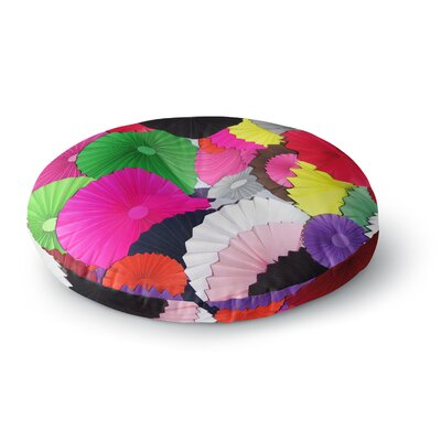 Heidi Jennings Tempting Circles Round Floor Pillow Size: 26 x 26