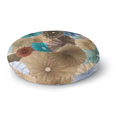 Heidi Jennings Day at the Beach Round Floor Pillow Size: 26 x 26
