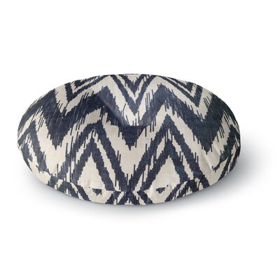 Heidi Jennings Tribal Chevron Round Floor Pillow Size: 26 x 26, Color: Black