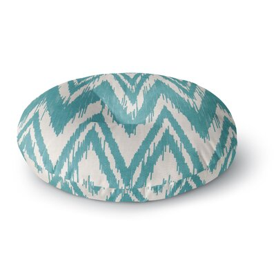 Heidi Jennings Tribal Chevron Round Floor Pillow Size: 23 x 23, Color: Aqua