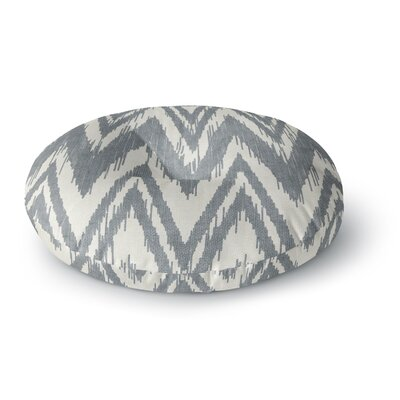 Heidi Jennings Tribal Chevron Round Floor Pillow Size: 26 x 26, Color: Gray