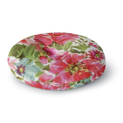 Heidi Jennings Walk Through the Garden Flowers Round Floor Pillow Size: 23 x 23
