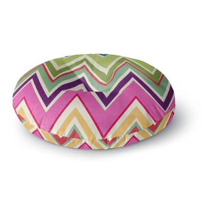 Heidi Jennings Clash of Color Rainbow Chevron Round Floor Pillow Size: 26 x 26