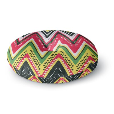 Heidi Jennings Jamaican Me Crazy Round Floor Pillow Size: 23 x 23