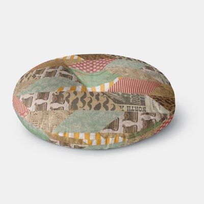 Heidi Jennings Hodge Podge Vintage Texture Round Floor Pillow Size: 26 x 26