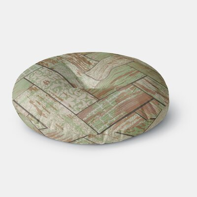 Heidi Jennings Patina Wood Round Floor Pillow Size: 26 x 26