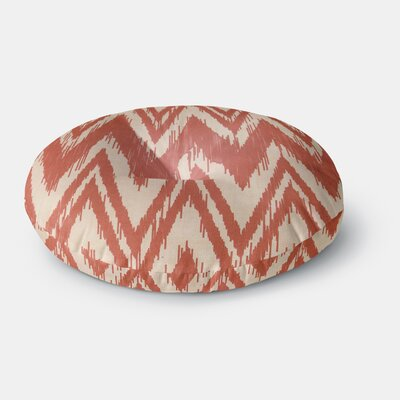 Heidi Jennings Tribal Chevron Round Floor Pillow Size: 26 x 26, Color: Red