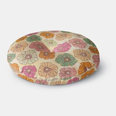 Heidi Jennings Vintage Petals Round Floor Pillow Size: 26 x 26