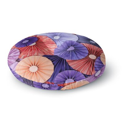 Heidi Jennings Raspberry Sherbert Round Floor Pillow Size: 26 x 26