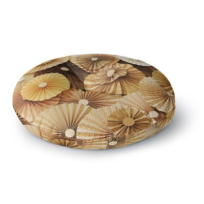 Heidi Jennings Caramel Latte Round Floor Pillow Size: 26 x 26