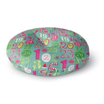 Heidi Jennings Merry Countdown Round Floor Pillow Size: 23 x 23