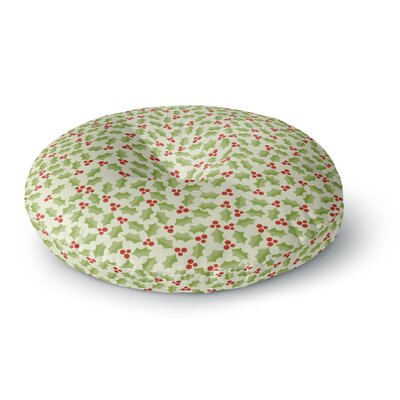 Heidi Jennings Oh Holly Night Round Floor Pillow Size: 26 x 26