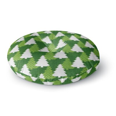 Heidi Jennings Pine Forest Round Floor Pillow Size: 26 x 26