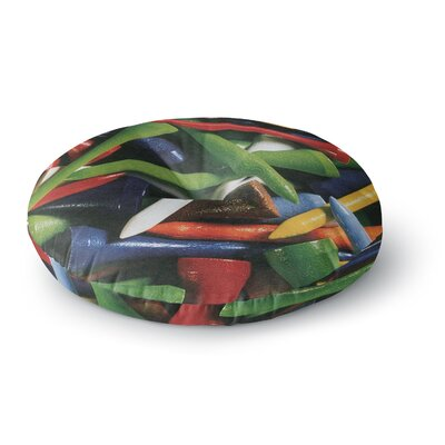 Heidi Jennings Teed off Round Floor Pillow Size: 26 x 26